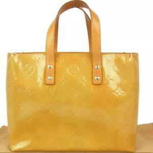 Louis Vuitton Vernis Reade PM Tote Mango Yellow